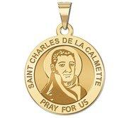 Saint Charles De La Calmette Round Religious Medal    EXCLUSIVE