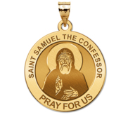 Saint Samuel The Confessor Round Religious Medal  EXCLUSIVE