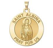 Saint Albina Round Religious Medal  EXCLUSIVE