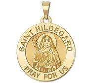 Saint Hildegard Round Religious Medal   EXCLUSIVE