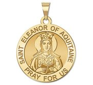 Saint Eleanor of Aquitaine Round Religious Medal   EXCLUSIVE