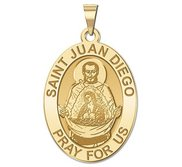Saint Juan Diego OVAL Religious Medal   EXCLUSIVE
