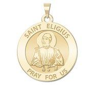 Saint Eligius Round Religious Medal  EXCLUSIVE