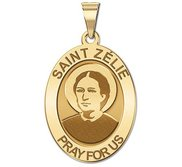 Saint Zelie Religious Medal   Oval   EXCLUSIVE