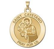 Saint Cayetano Round Religious Medal    EXCLUSIVE