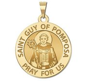 Saint Guy of Pomposa Round Religious Medal   EXCLUSIVE