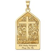 The 14 Holy Helpers Pentgaon Shaped Religious Medal  EXCLUSIVE