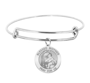 Blessed Mother  Virgin Mary Expandable Bracelet