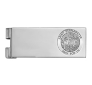Stainless Steel Engravable Saint Bernadette Money Clip