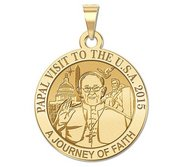 Pope Francis Papal Washington DC Visit 2015    A Journey of Faith  Embossed Medal