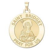 Saint Bridget of Sweden Round Religious Medal    EXCLUSIVE