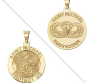 Saint Michael Double Sided Paratrooper Medal