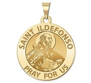 Saint Ildefonso Round Religious Medal   EXCLUSIVE
