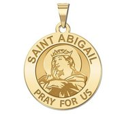 Saint Abigail Religious Round Medal    EXCLUSIVE