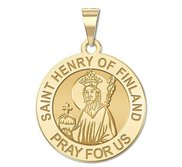 Saint Henry of Finland Round Religious Medal   EXCLUSIVE