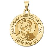 Saint Pharamond King of the Franks Round Religious Medal  EXCLUSIVE
