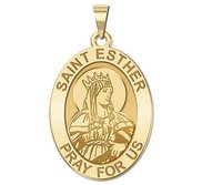 Saint Esther Religious Oval Medal   EXCLUSIVE