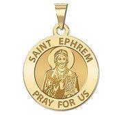 Saint Ephrem Round Religious Medal   EXCLUSIVE