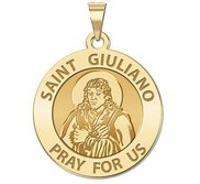Saint Giuliano Round Religious Medal   EXCLUSIVE