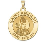 Saint Ansgar Round Religious Medal    EXCLUSIVE