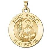 Saint Ashley Round Religious Medal  EXCLUSIVE