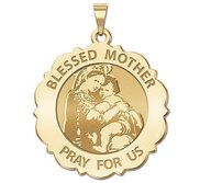 Blessed Mother  Virgin Mary Round Religious Medal   EXCLUSIVE