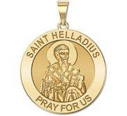 Saint Helladius Round Religious Medal   EXCLUSIVE