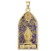 Our Lady of GraceS Miraculous Medal   Stained Glass Religious Medal  EXCLUSIVE