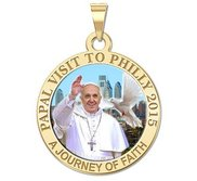 Pope Francis Papal Philadelphia  PA Visit 2015    A Journey of Faith  Color Medal