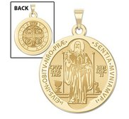 Saint Benedict Round Religious Medal  EXCLUSIVE
