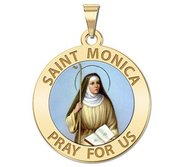 Saint Monica Religious Medal Color  EXCLUSIVE