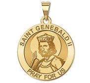Saint Genebald II Round Religious Medal    EXCLUSIVE