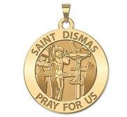 Saint Dismas Round Religious Medal  EXCLUSIVE