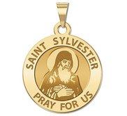 Saint Sylvester Religious Medal  EXCLUSIVE