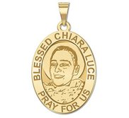 Blessed Chiara Luce OVAL Religious Medal   EXCLUSIVE