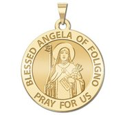 Blessed Angela of Foligno Round Religious Medal  EXCLUSIVE