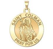 Saint Colman Round Religious Medal    EXCLUSIVE