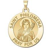 Saint Philomena Round Religious Medal  EXCLUSIVE