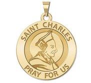 Saint Charles Borromeo Round Religious Medal    EXCLUSIVE
