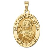 Saint Francis Xavier Oval Religious Medal   EXCLUSIVE