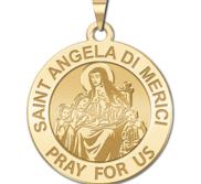 Saint Angela di Merici Round Religious Medal  EXCLUSIVE