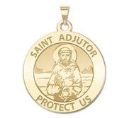 Saint Adjutor Round Religious Medal    EXCLUSIVE
