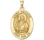 Saint Kessog Religious Medal   Oval  EXCLUSIVE