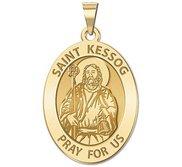 Saint Kessog Religious Medal   Oval  EXCLUSIVE