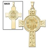 Saint Benedict Jubilee DoubleSided Cross Religious Medal   EXCLUSIVE