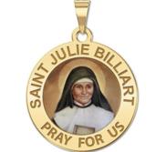 Saint Julie Billiart Round Religious Medal Color