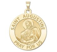 Saint Augustine of Hippo Round Religious Medal  EXCLUSIVE