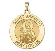 Saint Braulio Round Religious Medal  EXCLUSIVE