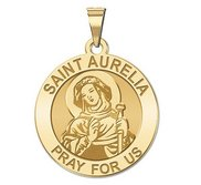 Saint Aurelia Round Religious Medal  EXCLUSIVE