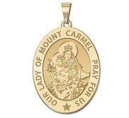 Our Lady of Mount Carmel Religious Medal  OVAL  EXCLUSIVE